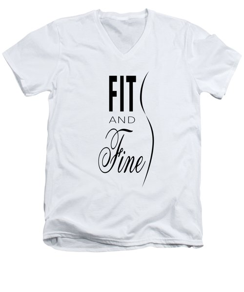 Fit And Fine Men's V-Neck T-Shirt
