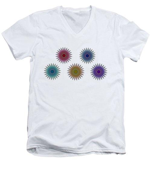 Five Flowers Men's V-Neck T-Shirt