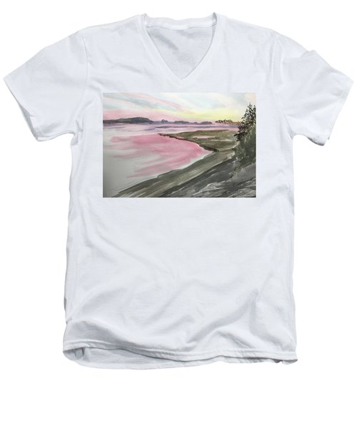Five Islands - Watercolor Sketch  Men's V-Neck T-Shirt