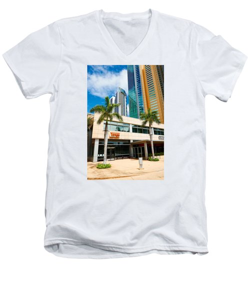 Fla-150531-nd800e-25125-color Men's V-Neck T-Shirt