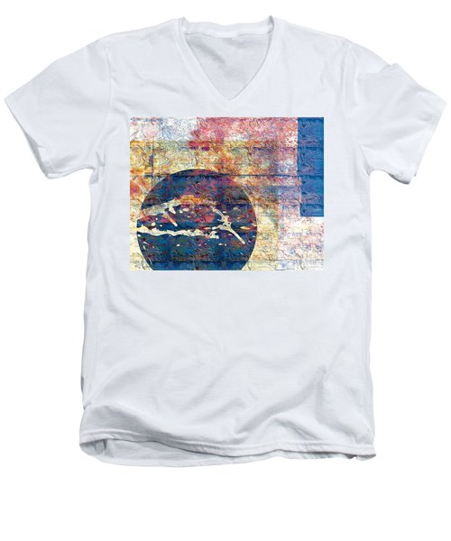 Men's V-Neck T-Shirt featuring the digital art Flag by Gabrielle Schertz