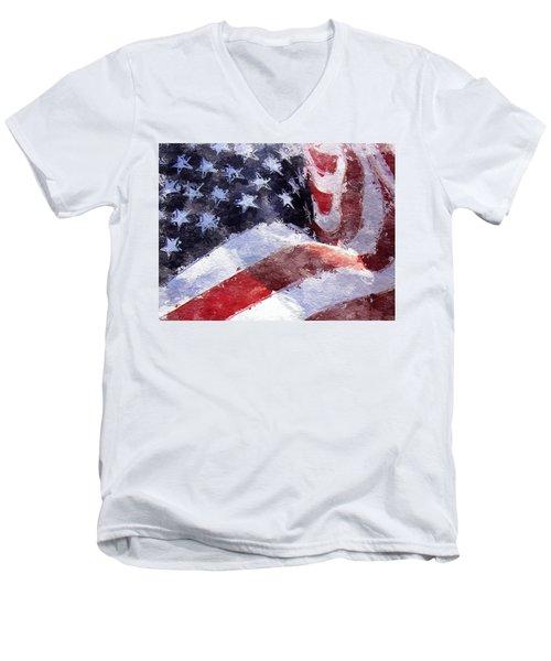 Flag Men's V-Neck T-Shirt