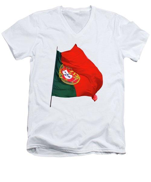 Flag Of Portugal Men's V-Neck T-Shirt
