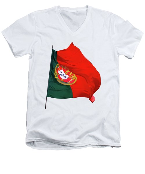 Flag Of Portugal Men's V-Neck T-Shirt