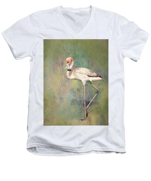 Flamingo Dancing Men's V-Neck T-Shirt