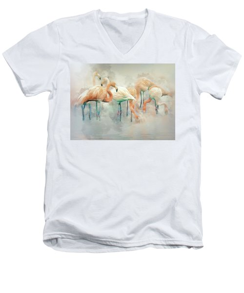 Flamingo Fantasy Men's V-Neck T-Shirt by Brian Tarr
