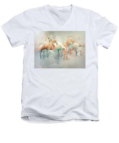 Flamingo Fantasy Men's V-Neck T-Shirt