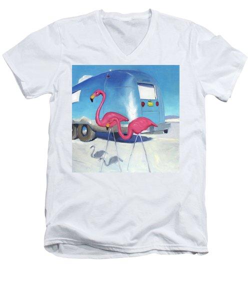 Flamingo Migration Men's V-Neck T-Shirt