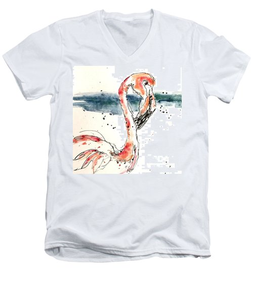 Flamingo Pool Men's V-Neck T-Shirt