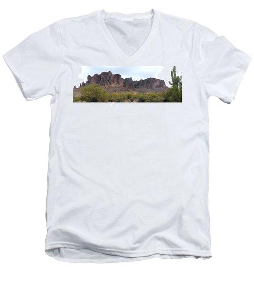 Flatiron Of The Superstition Mountains Men's V-Neck T-Shirt