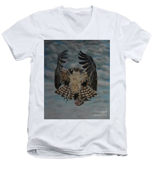 Fleck The Osprey  Men's V-Neck T-Shirt