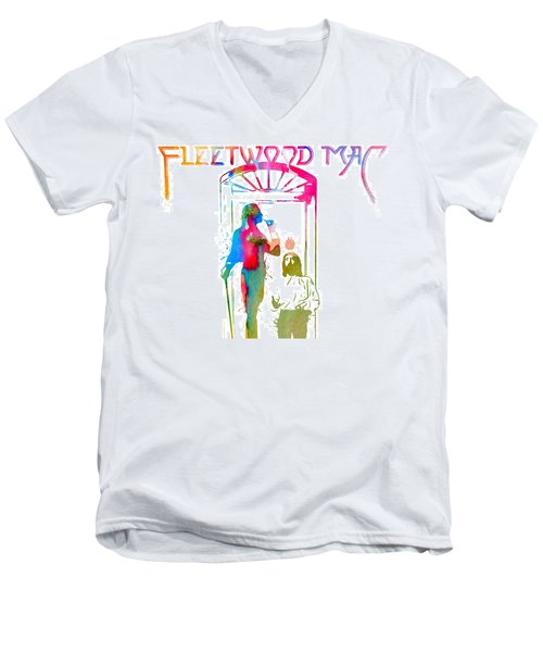 Fleetwood Mac Album Cover Watercolor Men's V-Neck T-Shirt