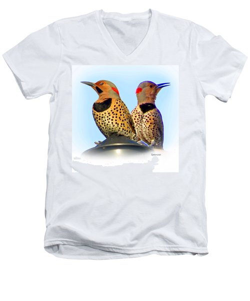 Flicker X2 Men's V-Neck T-Shirt