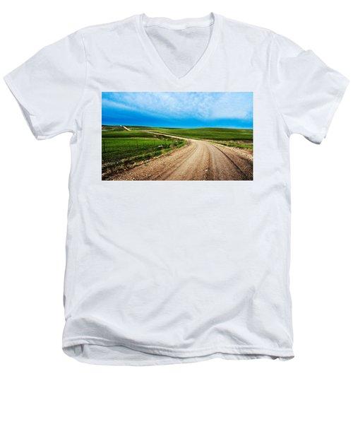 Flint Hills Spring Gravel Men's V-Neck T-Shirt