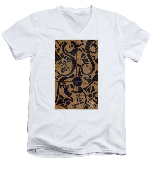 Flipside 1 Panel D Men's V-Neck T-Shirt by Joseph A Langley