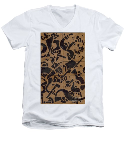 Flipside 1 Panel E Men's V-Neck T-Shirt