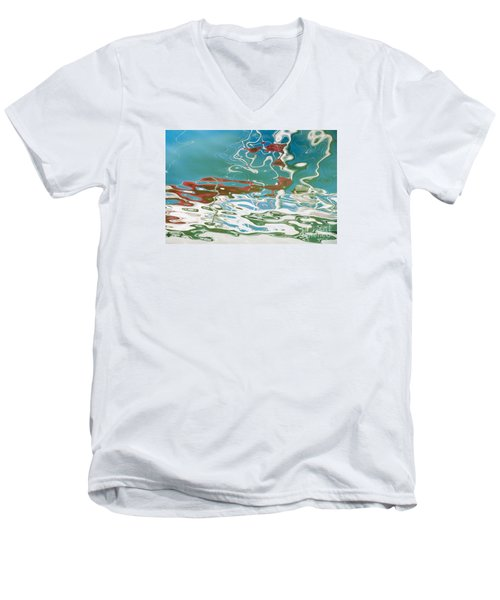 Floating On Blue 35 Men's V-Neck T-Shirt by Wendy Wilton