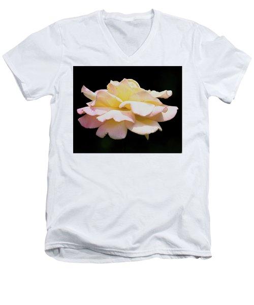 Floating Rose 3894 Men's V-Neck T-Shirt