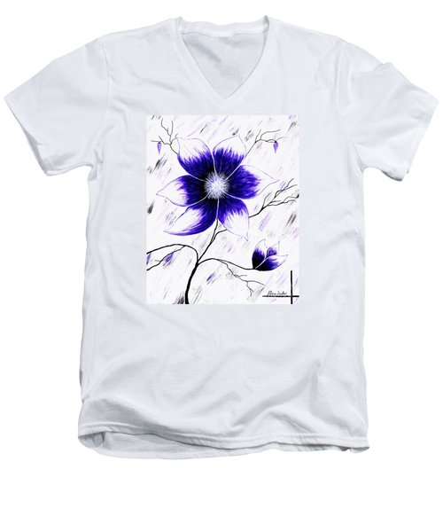 Floral Awakening Men's V-Neck T-Shirt