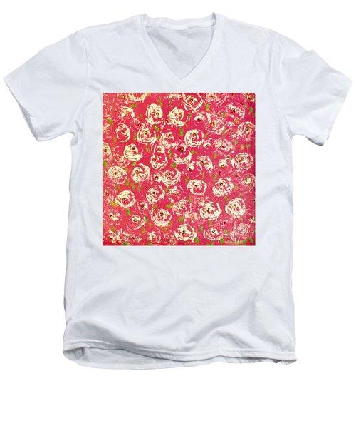 Floral Design Men's V-Neck T-Shirt