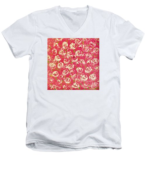 Floral Design Men's V-Neck T-Shirt