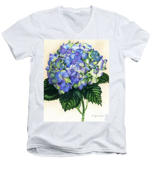 Floral Favorite Men's V-Neck T-Shirt by Barbara Jewell