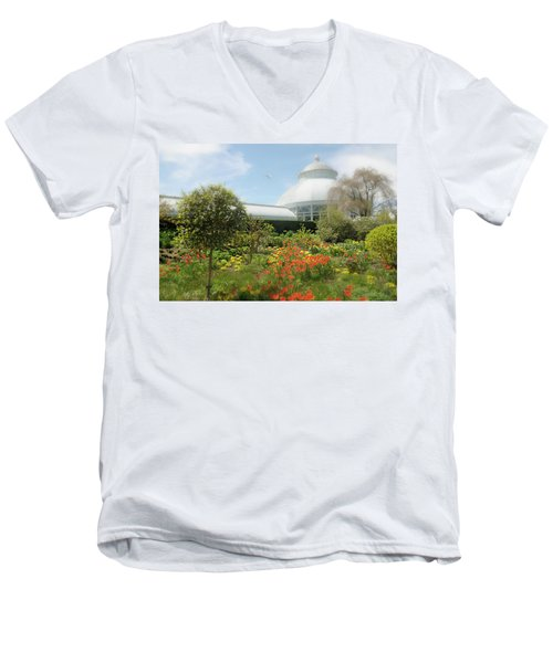 Men's V-Neck T-Shirt featuring the photograph Floral Notes by Diana Angstadt