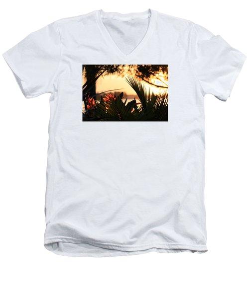Florida Sunrise Men's V-Neck T-Shirt by Diane Merkle