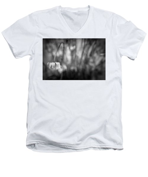 Flower #7421 Men's V-Neck T-Shirt by Andrey Godyaykin
