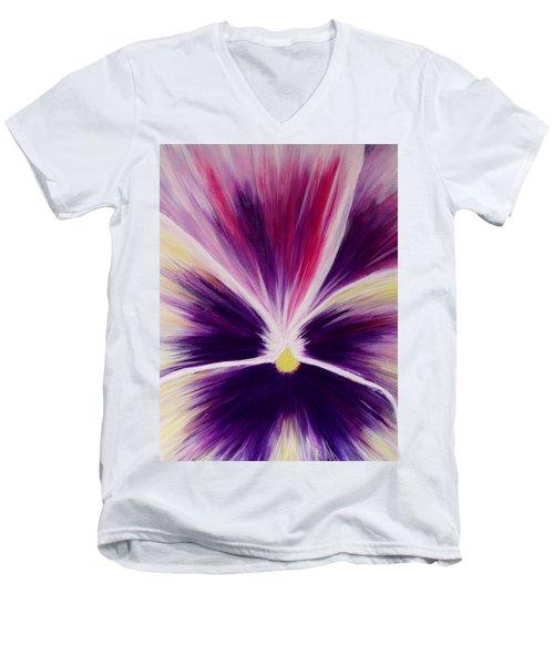 Flower Abstract Men's V-Neck T-Shirt
