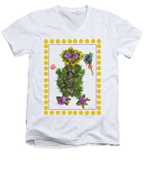 Flower Baby Men's V-Neck T-Shirt