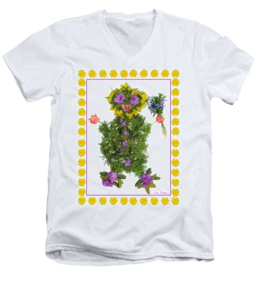 Flower Baby Men's V-Neck T-Shirt