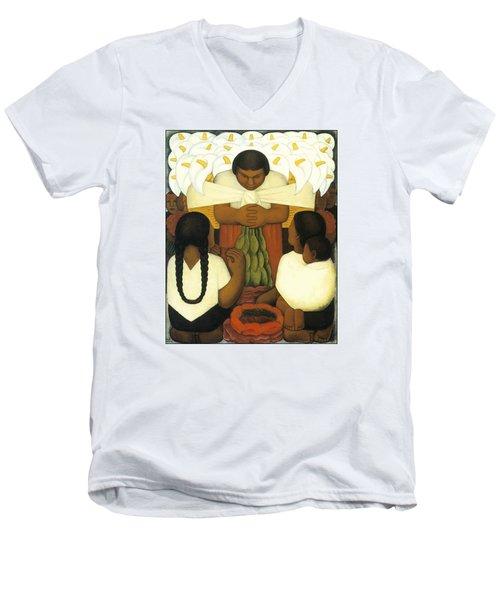 Flower Day Men's V-Neck T-Shirt