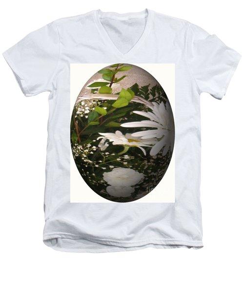 Flower Egg Men's V-Neck T-Shirt
