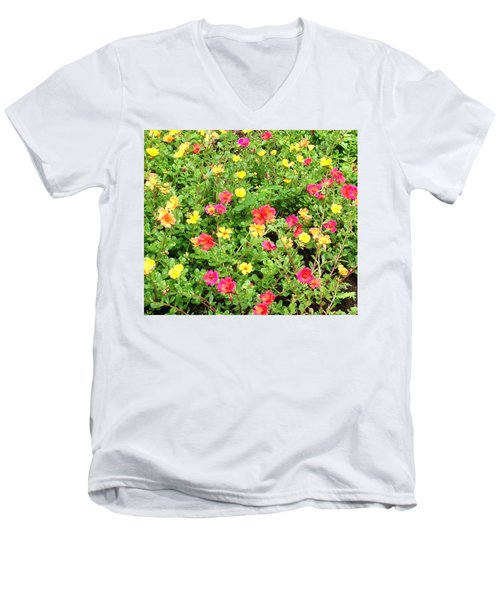 Flower Garden Men's V-Neck T-Shirt