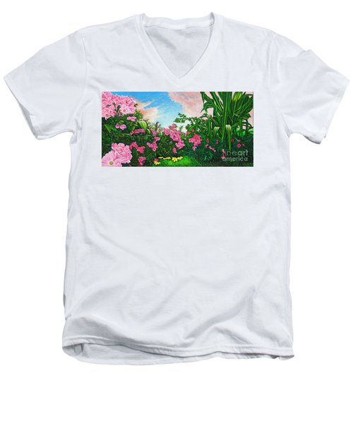 Flower Garden Xi Men's V-Neck T-Shirt by Michael Frank