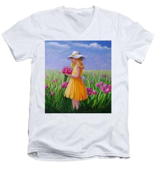 Flower Girl Men's V-Neck T-Shirt