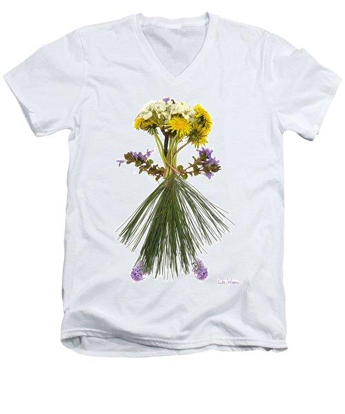 Flower Head Men's V-Neck T-Shirt