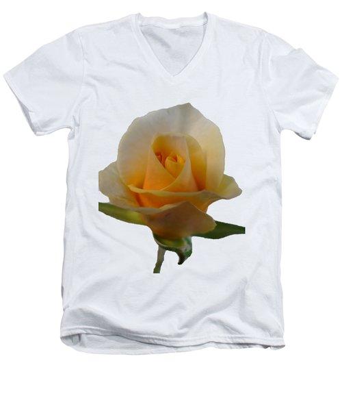 Flower Men's V-Neck T-Shirt by Laurel Powell