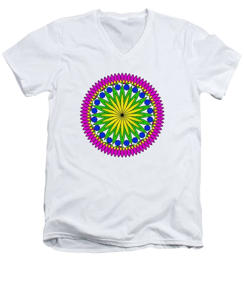 Flower Mandala By Kaye Menner Men's V-Neck T-Shirt