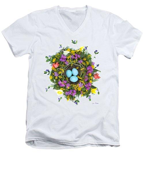 Flower Nest Men's V-Neck T-Shirt