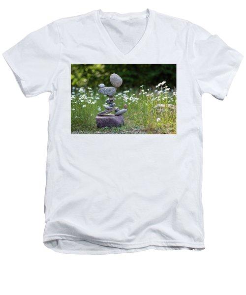 Flower Of Love. Men's V-Neck T-Shirt