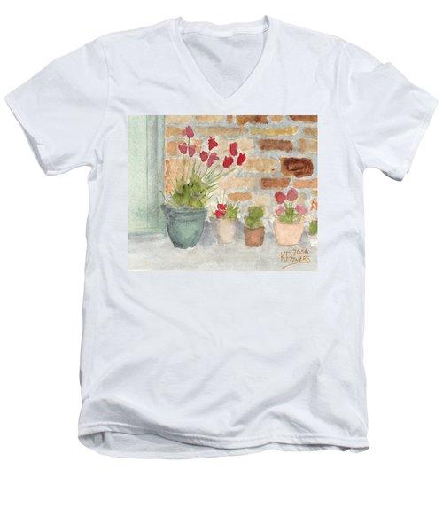 Flower Pots Men's V-Neck T-Shirt