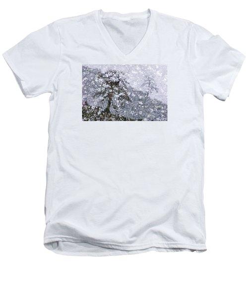 Flower Shower Men's V-Neck T-Shirt by Ed Hall