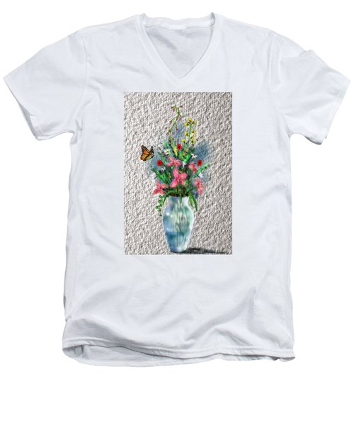 Flower Study Three Men's V-Neck T-Shirt by Darren Cannell