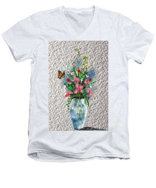 Flower Study Three Men's V-Neck T-Shirt