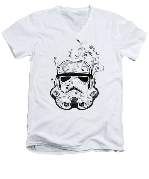 Flower Trooper Men's V-Neck T-Shirt by Nicklas Gustafsson