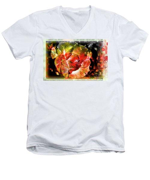 Flower Vector Men's V-Neck T-Shirt