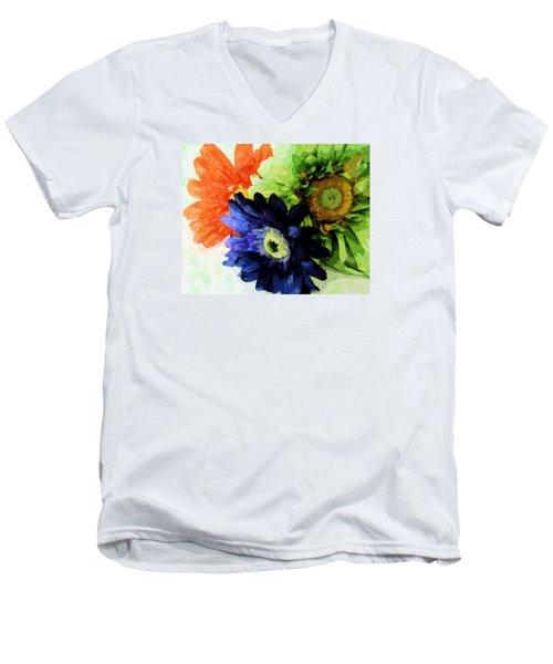 Flower X Three Men's V-Neck T-Shirt