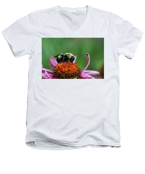 Flowerbee Men's V-Neck T-Shirt by Nikki McInnes